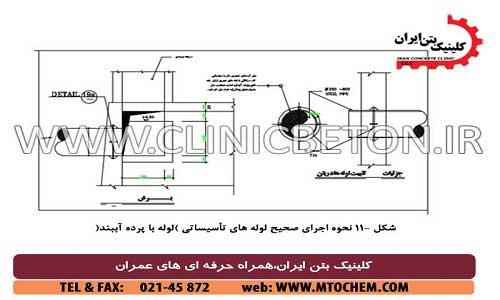 نحوه اجرای صحیح لوله های تاسیساتی _ کلینیک بتن ایران